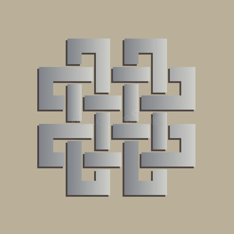 Symbole celtique croisé géométrique illustration stock