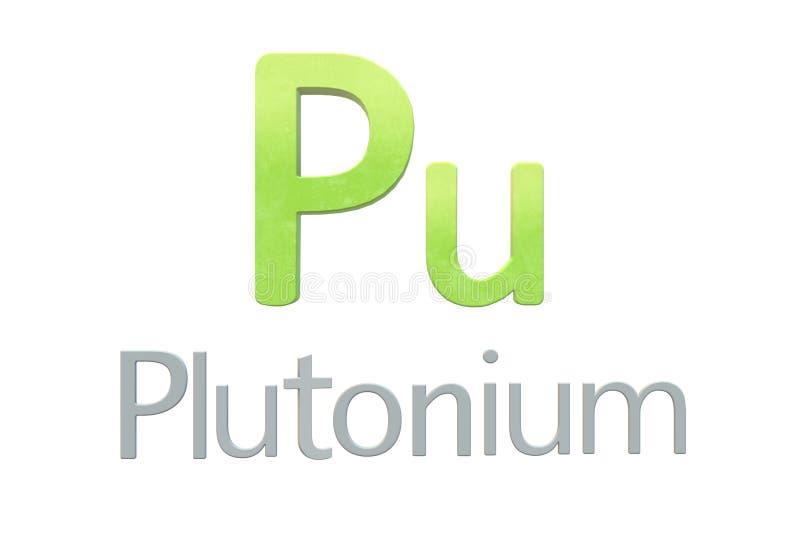 Symbole chimique de plutonium comme dans la table périodique illustration de vecteur