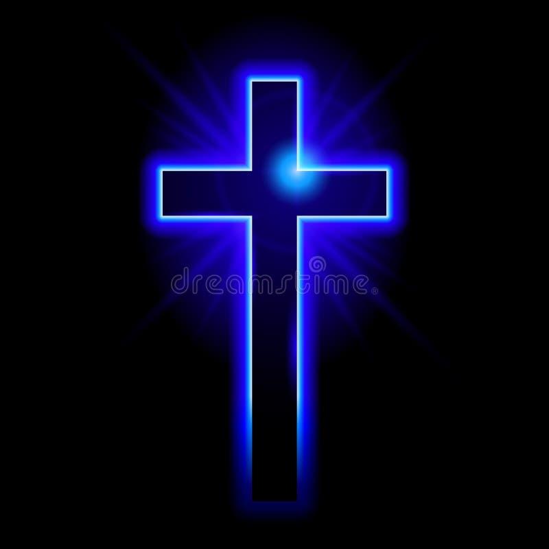 Symbole chrétien du crucifix illustration libre de droits