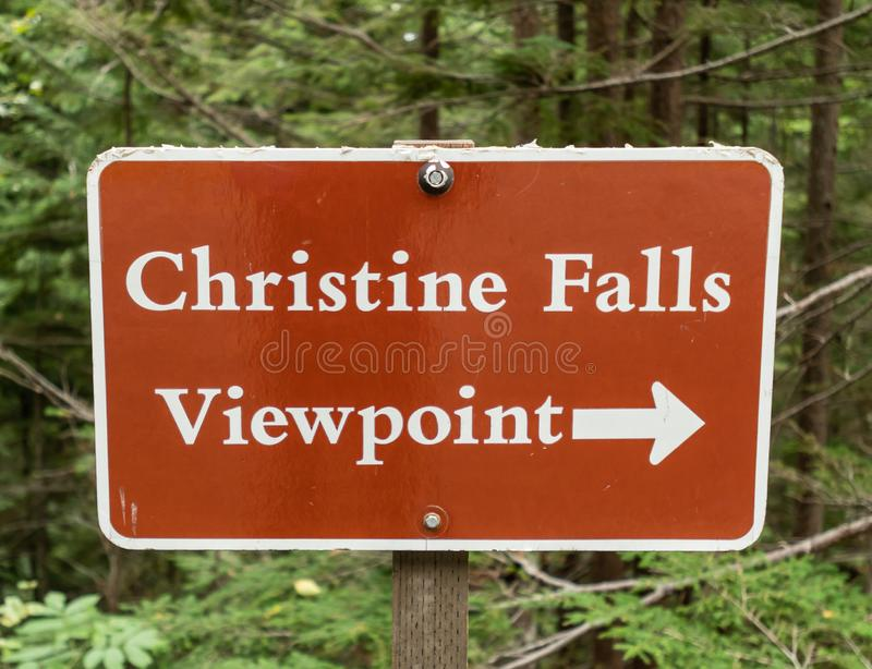 Symbole Christine Falls images stock