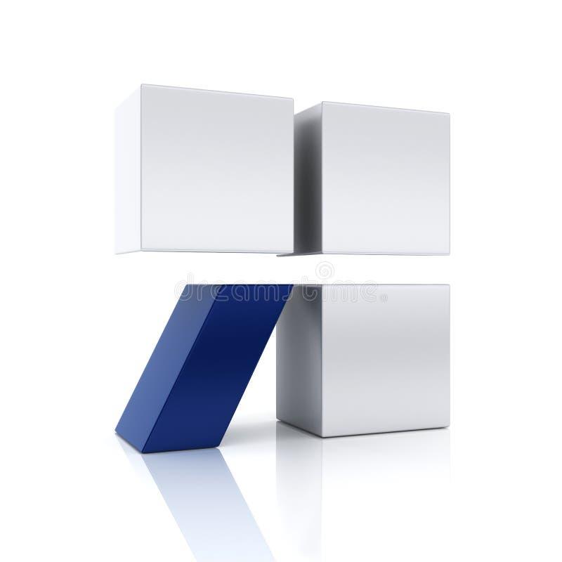 Symbole conceptuel bleu abstrait illustration libre de droits