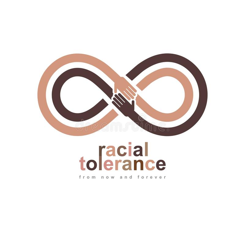 Symbole conceptuel de tolérance raciale, Martin Luther King Day, zéro illustration libre de droits
