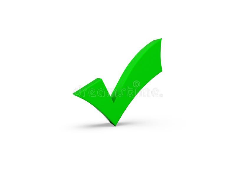 Symbole correct vert illustration stock