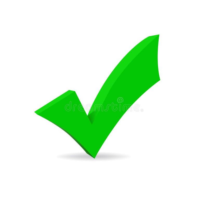 Symbole correct vert de vecteur illustration libre de droits