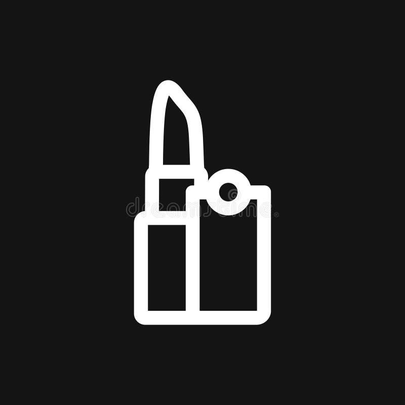 Symbole cosmétique de l'icône Lipstick Conception de Lipstick Flat illustration de vecteur