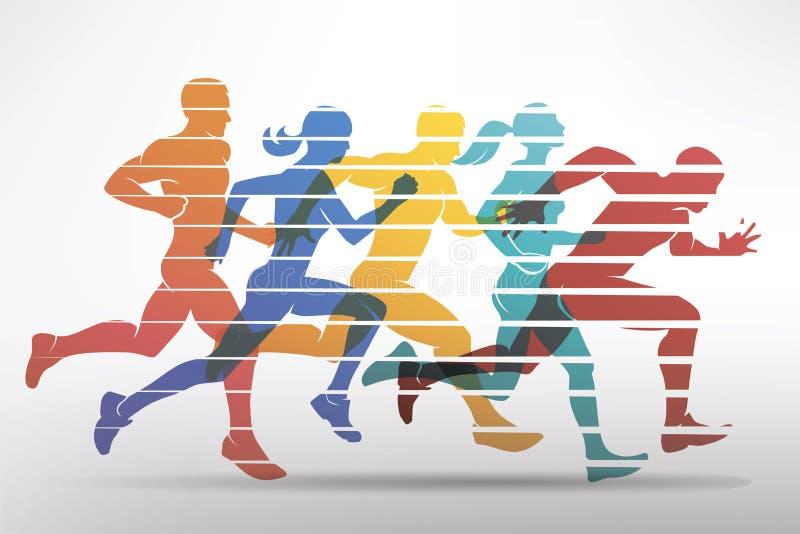 Symbole courant d'athlètes illustration libre de droits