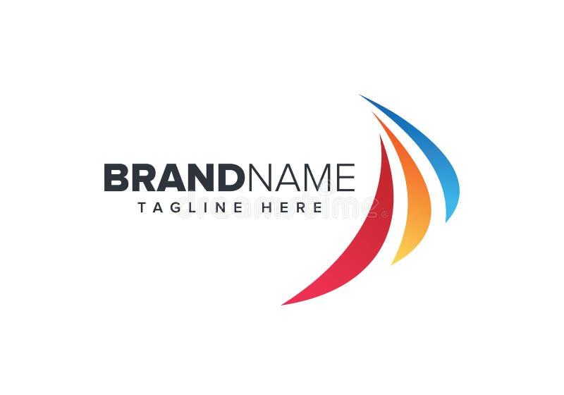 Symbole créatif d'aile Affaires relatives d'aviation et de lignes aériennes illustration libre de droits