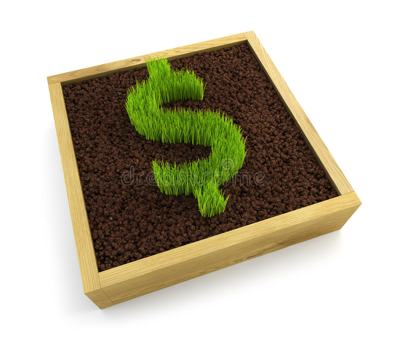 Symbole croissant du dollar illustration de vecteur