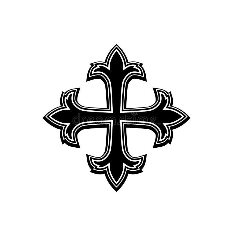 Symbole-croix religieuse illustration de vecteur