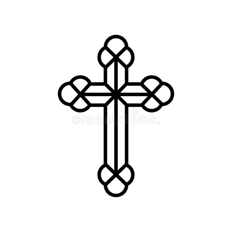 Symbole-croix religieuse illustration stock