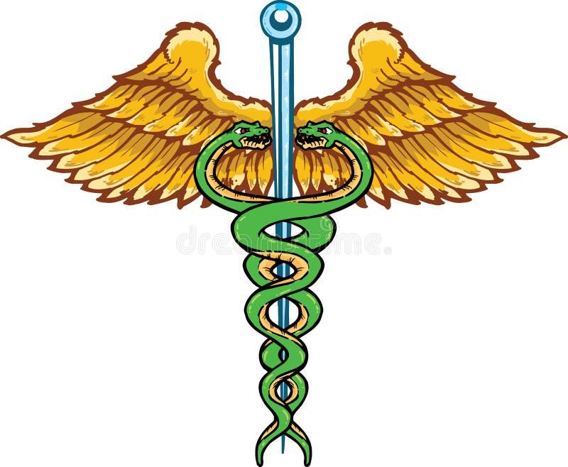 symbole curatif de caducée illustration libre de droits