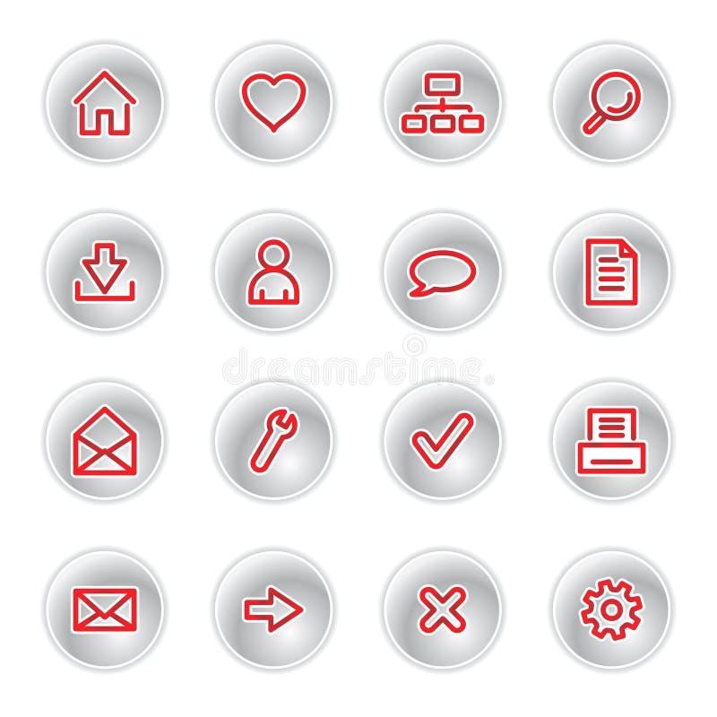 symbole czerwonym sieci