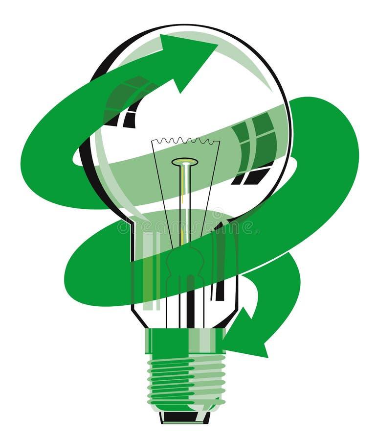 Symbole d'économie d'énergie d'ampoule illustration de vecteur