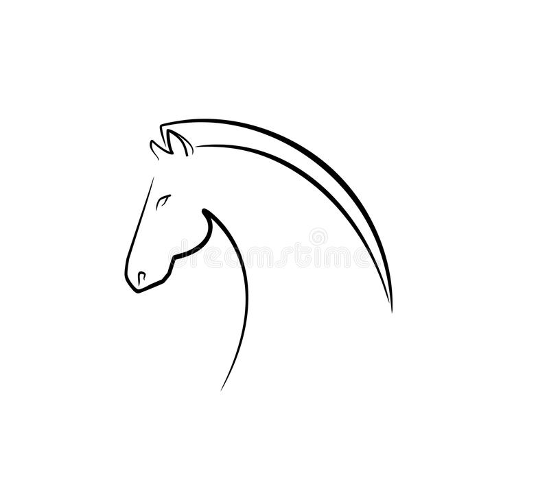 Symbole d'émotion calme illustration de vecteur