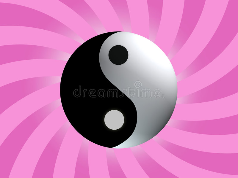 Symbole d'équilibre de Yin Yang illustration stock