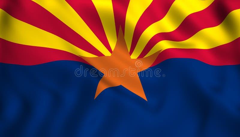 Symbole d'état d'USA de drapeau de l'Arizona illustration stock