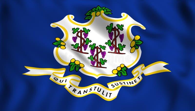 Symbole d'état d'USA de pays du pavillon du Connecticut illustration stock