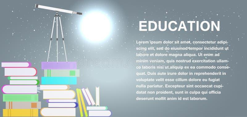 Symbole d'étude d'éducation d'école d'isolement Icône de signe de vecteur de concept d'université Littérature d'université de la  illustration de vecteur
