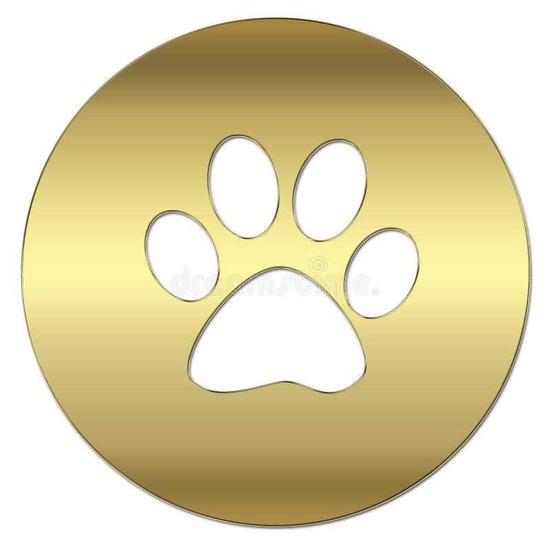 Symbole d'or illustration libre de droits