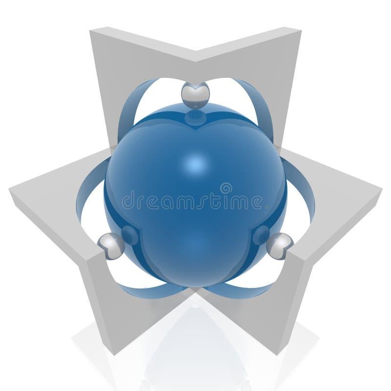 Symbole d'Absract 3d illustration stock