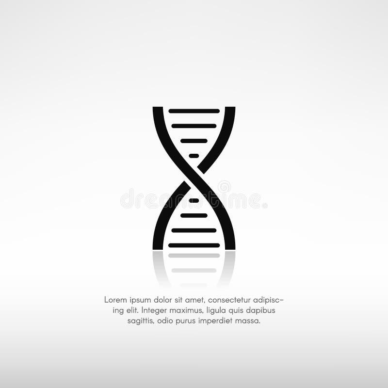 Symbole d'ADN avec la réflexion et un endroit pour le texte images libres de droits