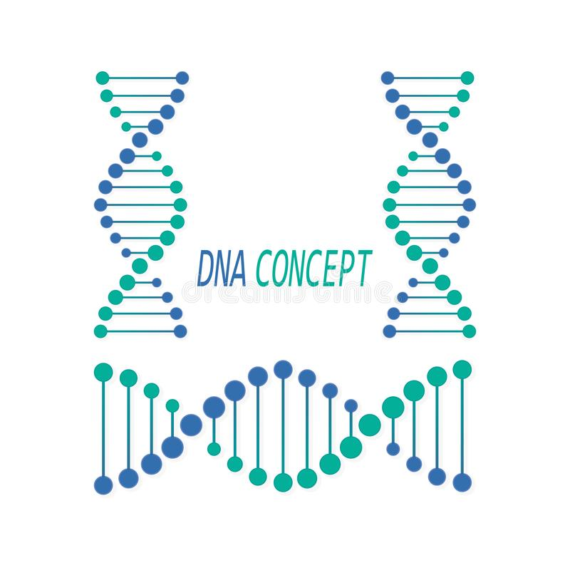 Symbole d'ADN, signe Concept d'acide désoxyribonucléique Illustration de vecteur illustration libre de droits