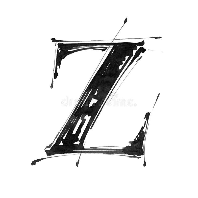 Symbole d'alphabet - lettre Z illustration de vecteur
