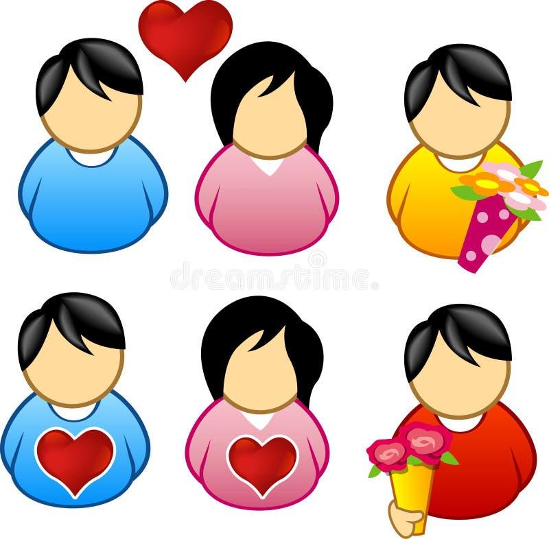 Symbole d'amour et de soin illustration stock