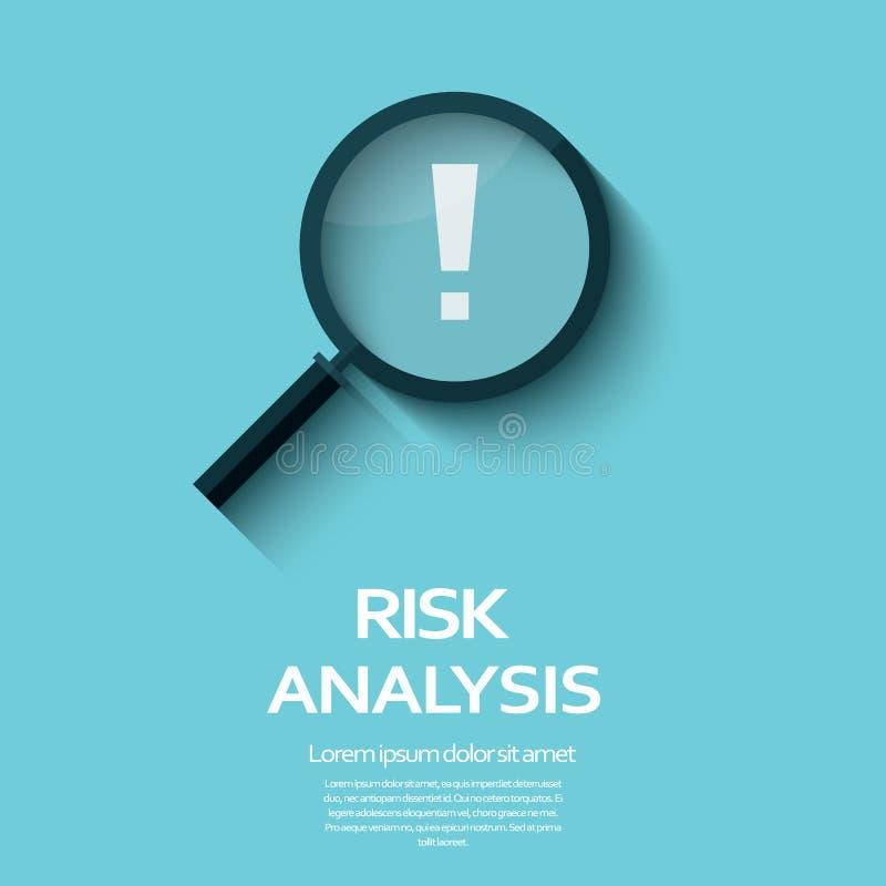 Symbole d'analyse de risque commercial avec l'agrandissement illustration de vecteur
