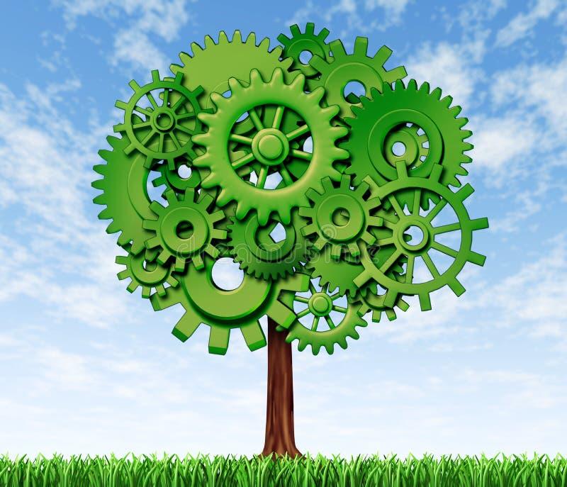 Symbole d'arbre d'accroissement et de réussite illustration stock