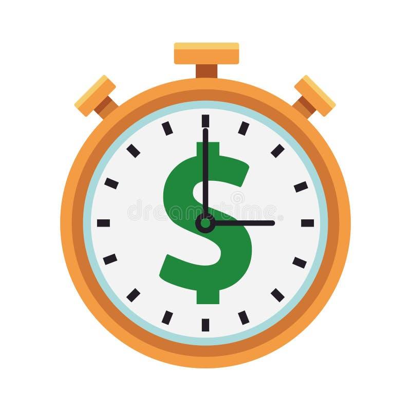 Symbole d'argent de chronomètre illustration de vecteur