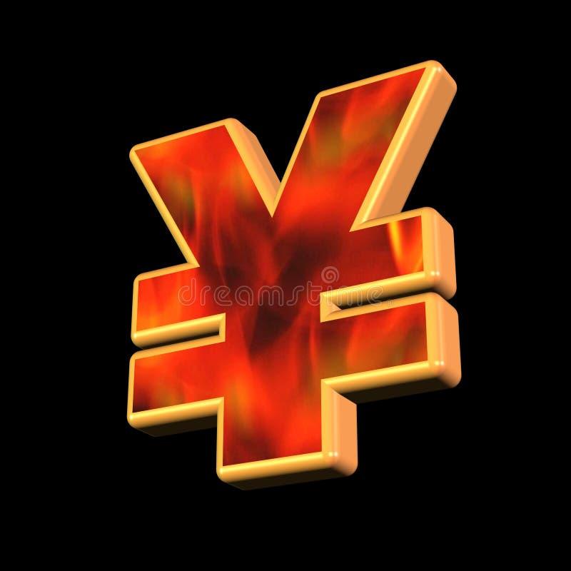 Symbole d'argent de Yens illustration stock