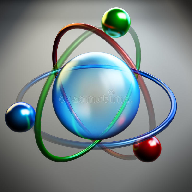 Symbole d'atome, structure de molécule illustration libre de droits