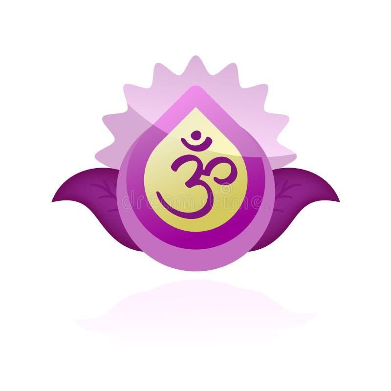 Symbole d'Aum illustration de vecteur