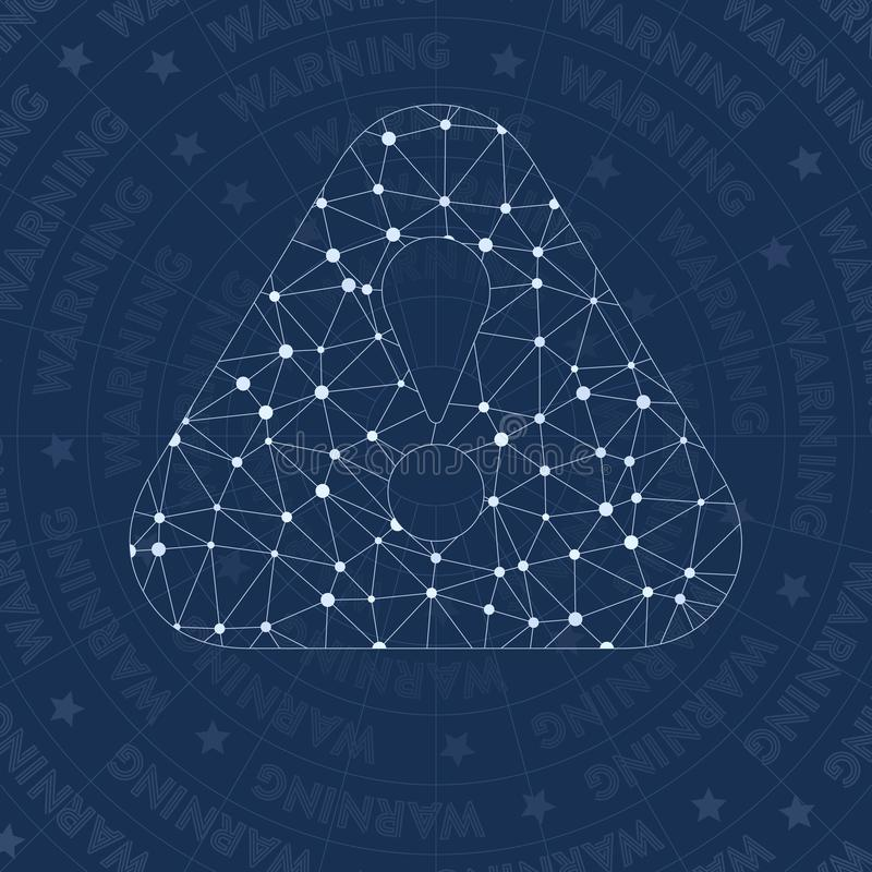 Symbole d'avertissement de réseau illustration de vecteur