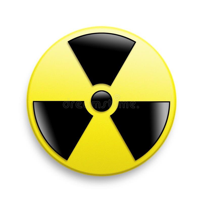 Symbole d'avertissement de rayonnement photos libres de droits