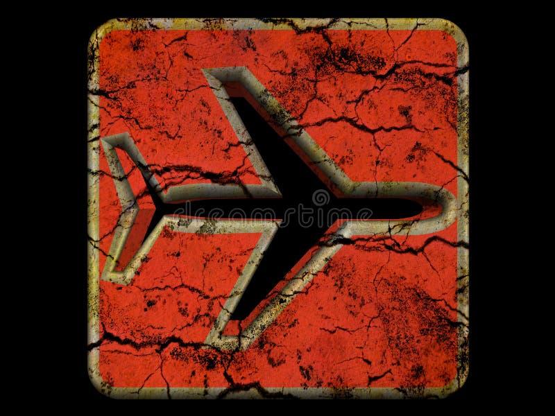 Symbole d'avion illustration de vecteur