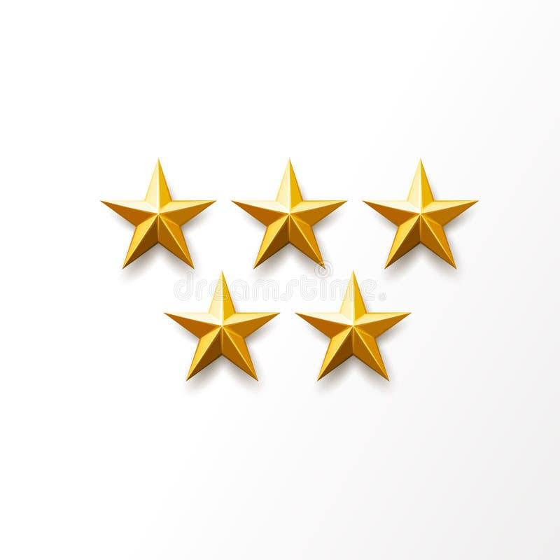 Symbole d'or de rang d'étoile de vecteur, récompense supérieure illustration de vecteur