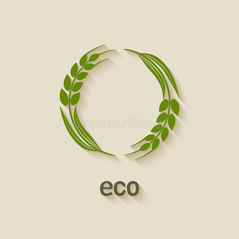 Symbole d'eco de blé illustration stock