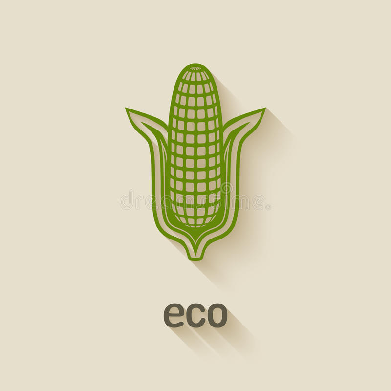 Symbole d'eco de maïs illustration libre de droits