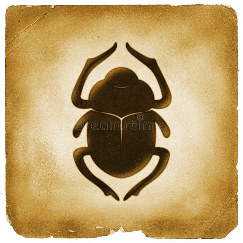 Symbole d'Egyptien de coléoptère de scarabée illustration libre de droits