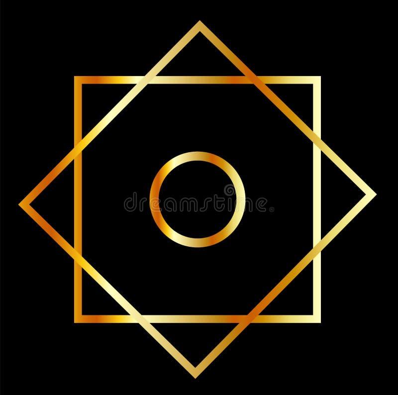 Symbole d'EL Hizb de bande de frottement illustration stock