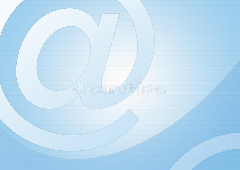 Symbole d'email illustration stock