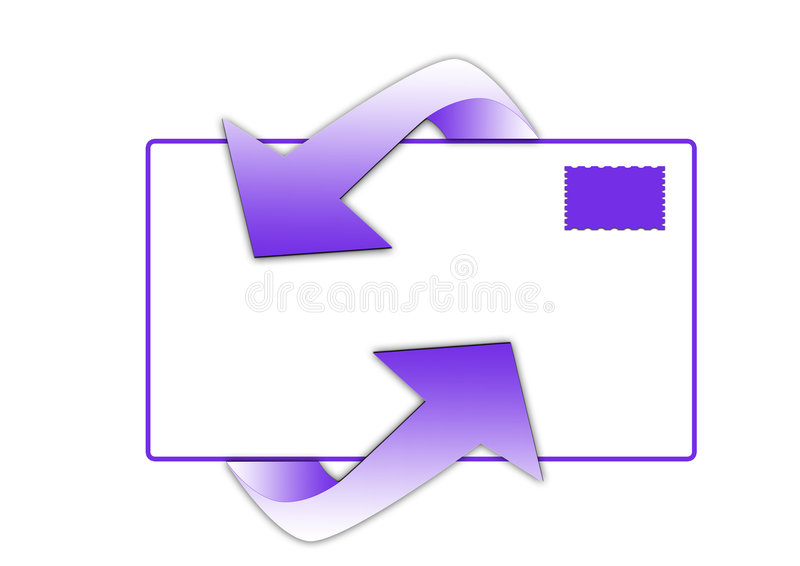Symbole d'email images libres de droits