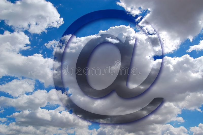 Symbole d'email photo stock