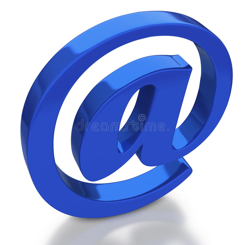 Symbole d'email avec la réflexion sur le fond blanc illustration de vecteur