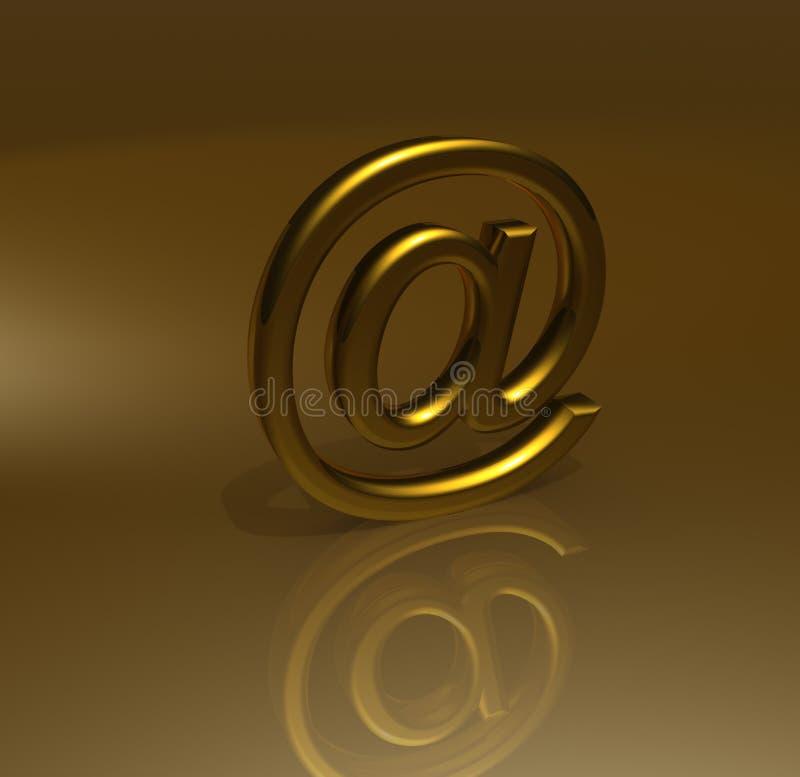 Symbole d'email d'or illustration libre de droits