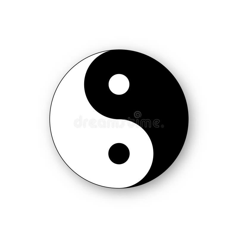 Symbole d'harmonie de vecteur d'icône de yang de Yin illustration de vecteur