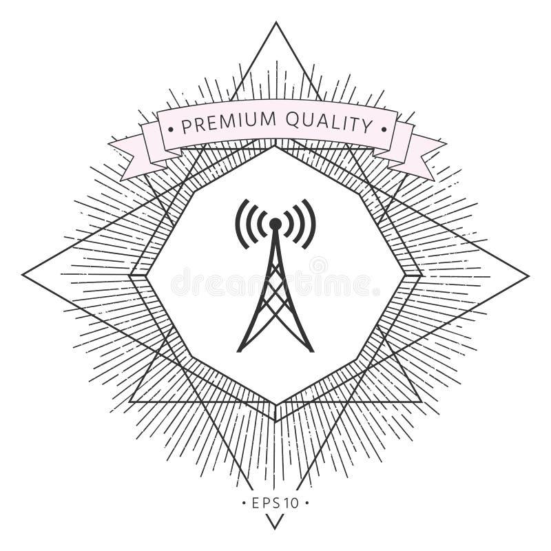 Symbole d'icône d'antenne illustration libre de droits
