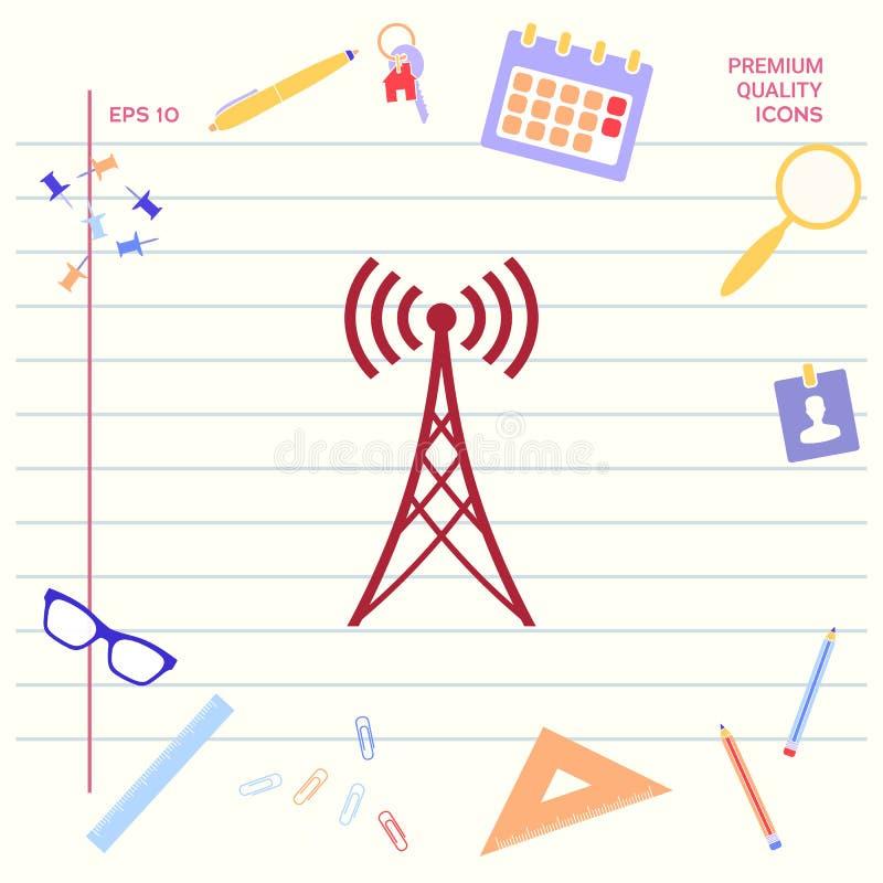 Symbole d'icône d'antenne illustration stock